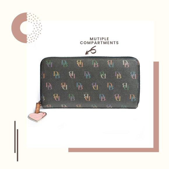 Dooney & Bourke Colorful Monogram Wallet